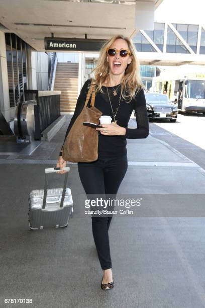 Kim Raver is seen at LAX on May 03 2017 in Los Angeles California