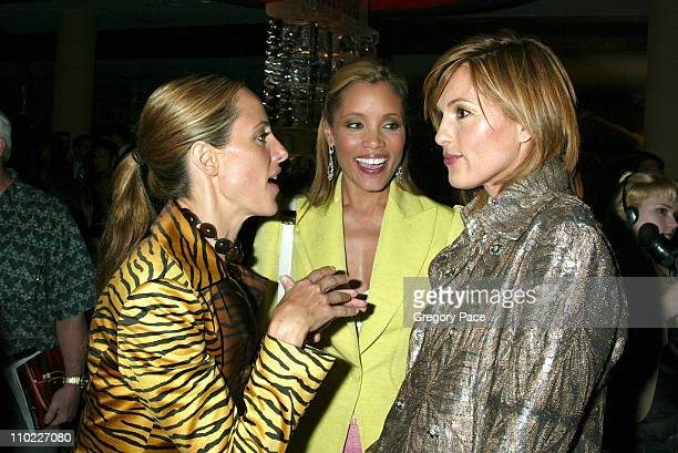 Kim Raver Michael Michele and Mariska Hargitay during Conde Nast Traveler Hot List Party for 2005 at Megu in New York City New York United States