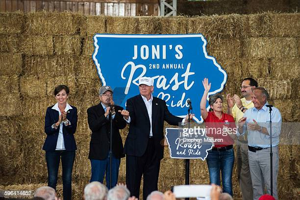 Kim Reynolds Lieutenant Governor Left Terry Branstad Governor Republican presidential nominee Donald Trump Sen Joni Ernst Jeff Kaufmann Republican...