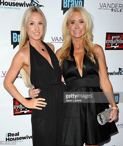 Kim Richards and daughter Brooke Brinson attend the The Real Housewives of Beverly Hills and Vanderpump Rules premiere party at Boulevard3 on October...