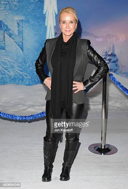 Kim Richards arrives at the Los Angeles Premiere 'Frozen' at the El Capitan Theatre on November 19 2013 in Hollywood California