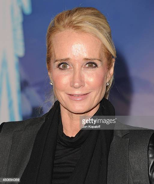 Kim Richards arrives at the Los Angeles Premiere Frozen at the El Capitan Theatre on November 19 2013 in Hollywood California