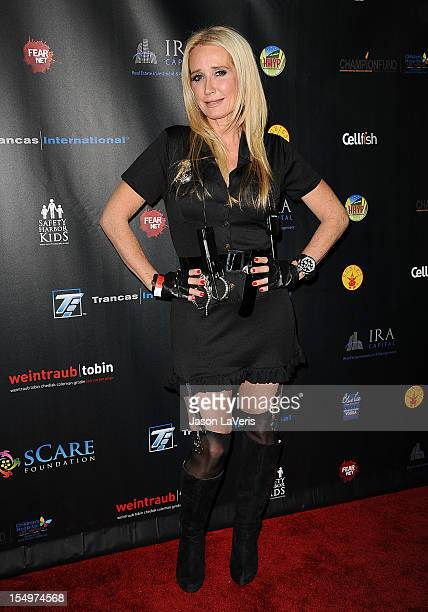 kim richards attends the scare foundations 2nd annual halloween benefit event at the conga room at