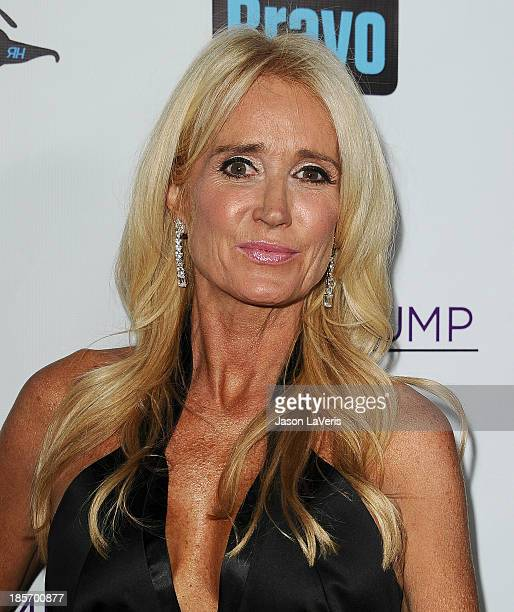 Kim Richards attends the The Real Housewives of Beverly Hills and Vanderpump Rules premiere party at Boulevard3 on October 23 2013 in Hollywood...
