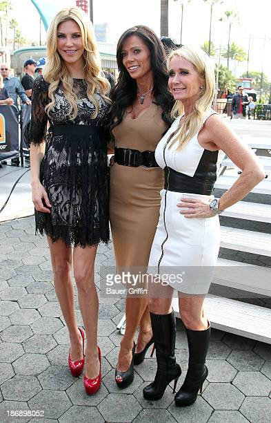 Kim Richards Carlton Gebbia and Brandi Glanville seen in on November 04 2013 in Los Angeles California
