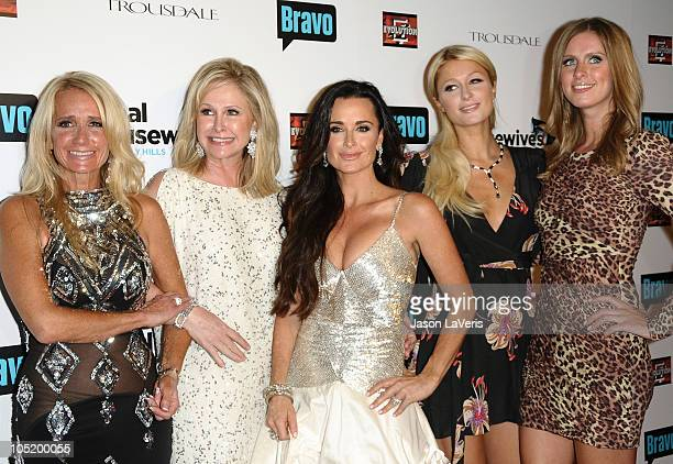 Kim Richards Kathy Hilton Kyle Richards Paris Hilton and Nicky Hilton attend The Real Housewives of Beverly Hills series premiere party at Trousdale...