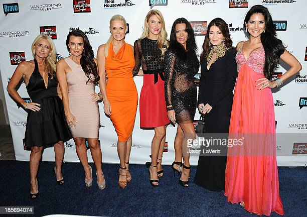 Kim Richards Kyle Richards Yolanda H Foster Brandi Glanville Carlton Gebbia Lisa Vanderpump and Joyce Giraud de Ohoven attend the The Real Housewives...