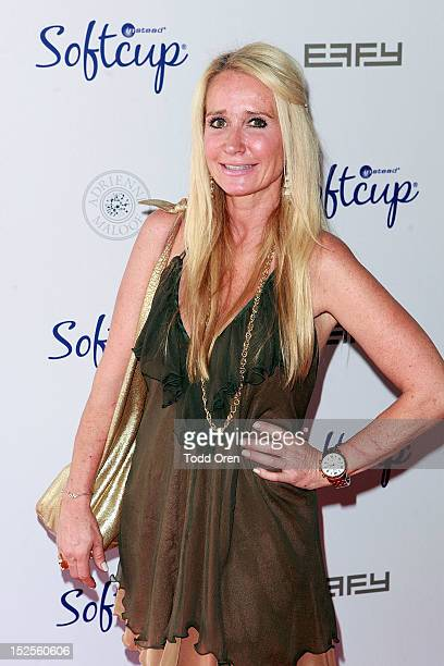 Kim Richards poses at the Softcup Beauty Retreat With ZING Vodka Cocktails Day 2 on September 21 2012 in Beverly Hills California
