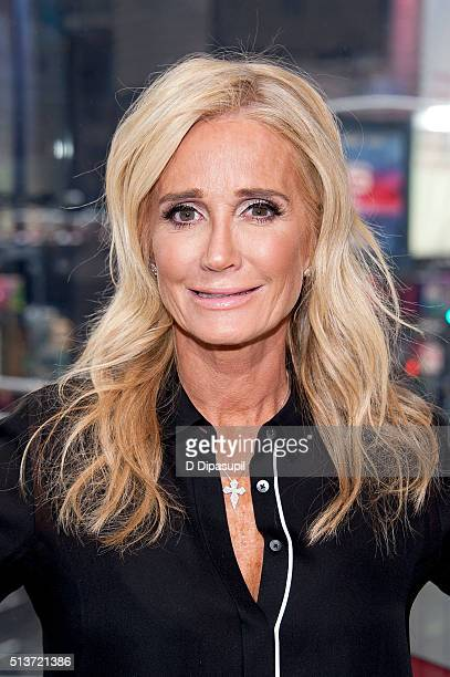 Kim Richards visits Extra at their New York studios at HM in Times Square on March 4 2016 in New York City