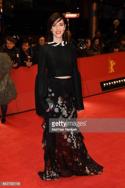 Kim Riedle arrives for the closing ceremony of the 67th Berlinale International Film Festival Berlin at Berlinale Palace on February 18 2017 in...