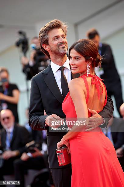 Kim Rossi Stuart and Ilaria Spada attend the closing ceremony of the 73rd Venice Film Festival at Sala Grande on September 10 2016 in Venice Italy