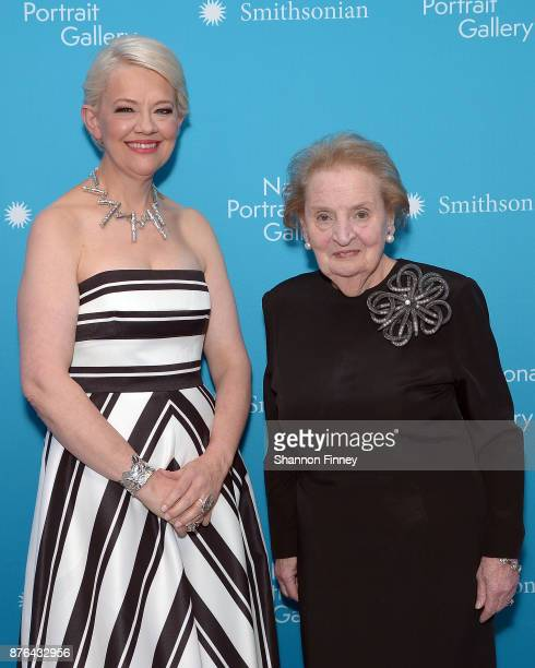 Kim Sajet Director of the National Portrait Gallery and former Secretary of State Dr Madeleine K Albright attend the National Portrait Gallery 2017...