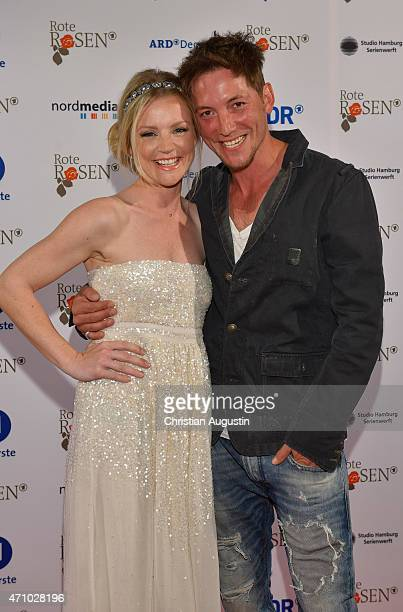 Kim Sarah Brandts and Dirk Moritz attend the celebration of 2000 episodes of Rote Rosen at Ritterakademie on April 24 2015 in Lueneburg Germany