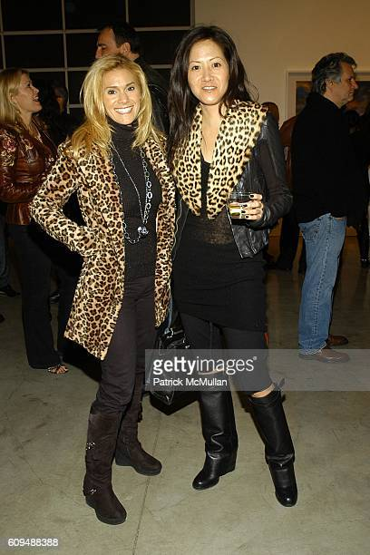 Kim Scheinberg and Julie Miyoshi attend Todd Eberle Opening Reception at Beverly Hills on January 6 2007