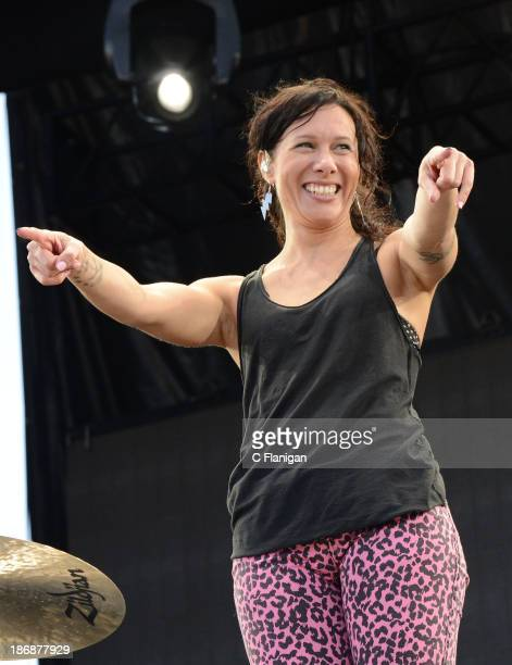 Kim Schifino of Matt and Kim performs during the 2013 Voodoo Music + Arts Experience at City Park on November 3, 2013 in New Orleans, Louisiana.