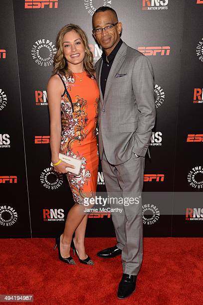 Kim Scott and Stuart Scott attend the Paley Prize Gala honoring ESPN's 35th anniversary presented by Roc Nation Sports on May 28 2014 in New York City