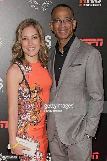 Kim Scott and Stuart Scott attend the The Paley Center for Media 2014 Spring Benefit Dinner at 583 Park Avenue on May 28 2014 in New York City