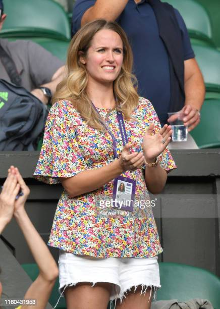 Kim Sears attends day six of the Wimbledon Tennis Championships at All England Lawn Tennis and Croquet Club on July 06, 2019 in London, England.