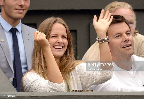 Kim Sears attends on Day 5 of the Wimbledon Lawn Tennis Championships at the All England Lawn Tennis and Croquet Club on June 28 2013 in London...