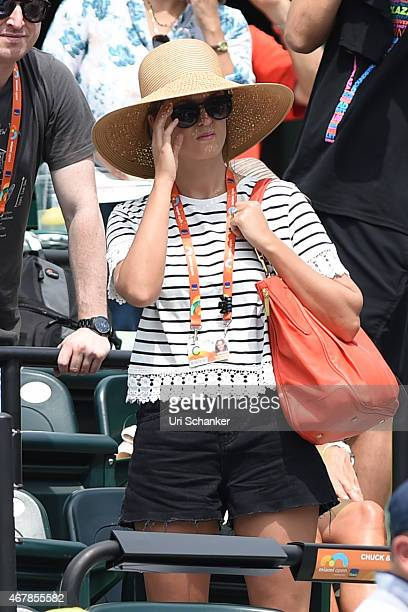 Kim Sears is sighted at The Miami Open at Crandon Park Tennis Center on March 27, 2015 in Key Biscayne, Florida.
