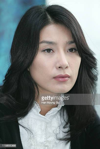 "Kim Seo-Hyung during ""Whispers"" Paju City Press Conference at Art Service A Studio In Paju in Paju City, Gyeonggi Province."