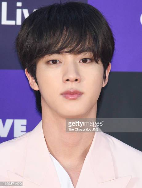 Kim SeokJin of Bangtan Boys arrives at the photocall for the 34th Golden Disc Awards on January 05 2020 in Seoul South Korea