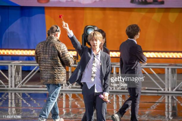 Kim Seokjin of BTS performs on Good Morning America on May 15 2019 in New York City