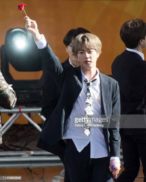 Kim Seokjin of BTS performs on Good Morning America's Summer Concert Series from Rumsey Playfield in Central Park on May 15 2019 in New York City