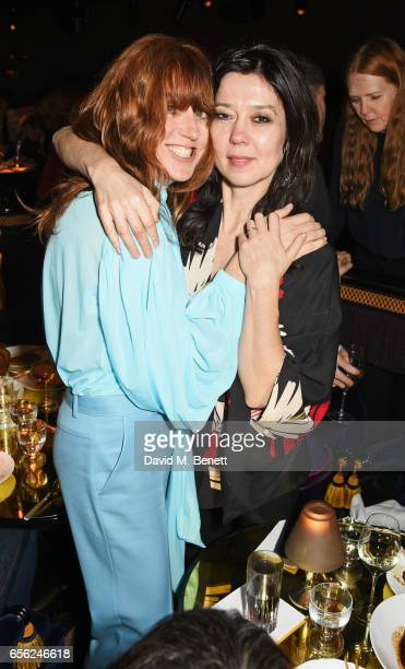 Kim Sion and Katy England attend the Another Man Spring/Summer Issue launch dinner in association with Kronaby at Park Chinois on March 21 2017 in...