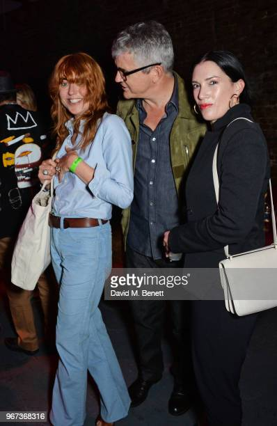 Kim Sion Jay Jopling and Sarah Morris attend the Hoping For Palestine benefit concert for Palestinian refugee children at The Roundhouse on June 4...