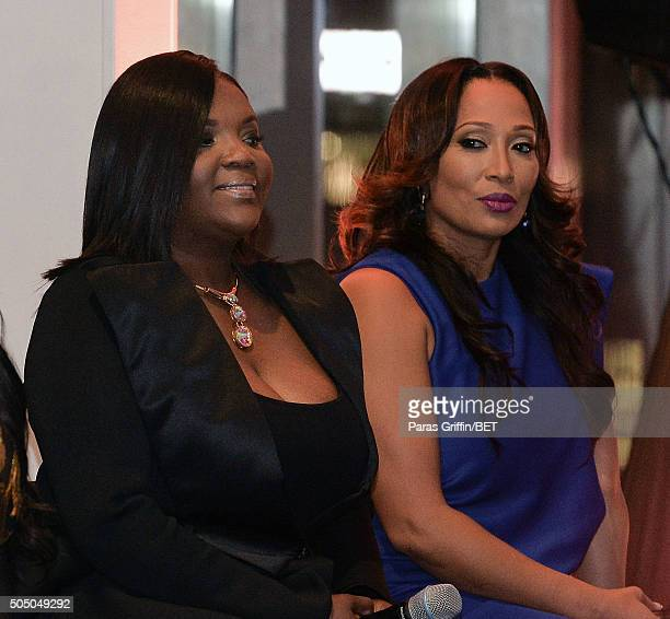 Kim Smedley and Chrystale Wilson attends From the Bottom Up presented by Centric at Ventanas on January 14 2016 in Atlanta Georgia