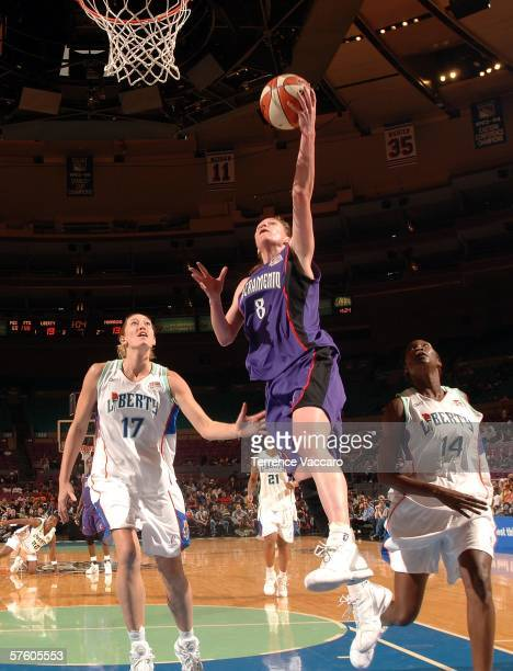 Kim Smith of the Sacramento Monarchs against Kelly Schumacher of the New York Liberty on May 13 2006 at Madison Square Garden in New York City NOTE...