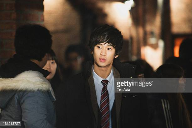 Kim SooHyun is seen during the KBS 2TV Drama 'Dream High' filming on January 25 2011 in Gyeonggido South Korea