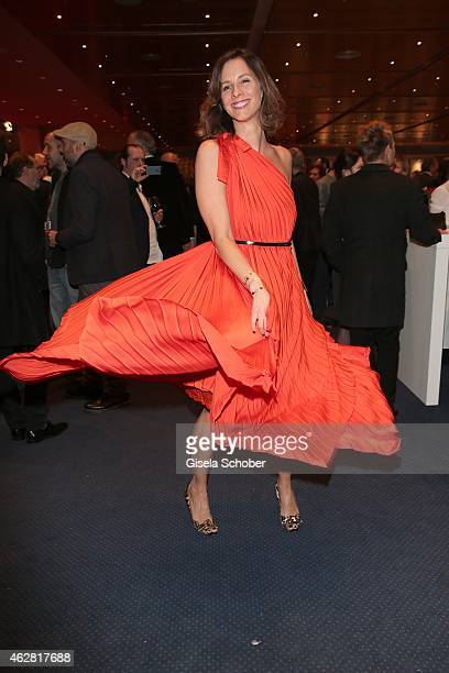Kim Steeb wearing a dress of Hugo Boss during the Opening Party for the 65th Berlinale International Film Festival at Berlinale Palace on February 5...
