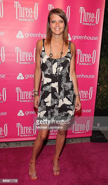 Kim Stolz attends the ThreeO Vodka Bubble launch at Greenhouse on July 9 2009 in New York City