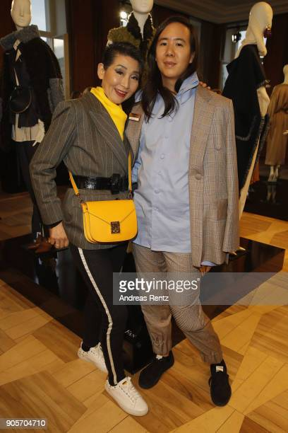 William Fan and guest attend the Vogue Salon during 'Der Berliner Salon' AW 18/19 at Kronprinzenpalais on January 16 2018 in Berlin Germany