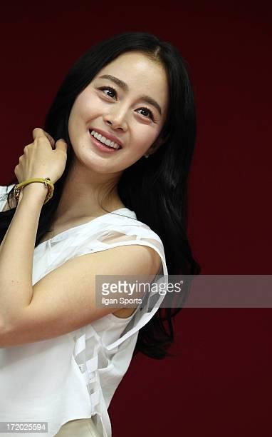 Kim Tae-Hee poses for photographs on June 26, 2013 in Seoul, South Korea.