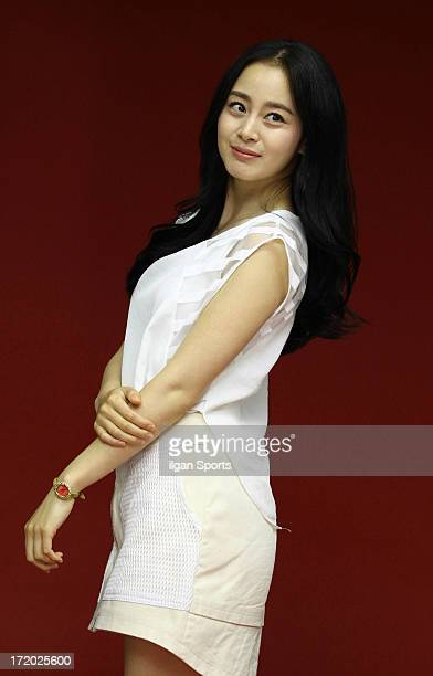 Kim TaeHee poses for photographs on June 26 2013 in Seoul South Korea
