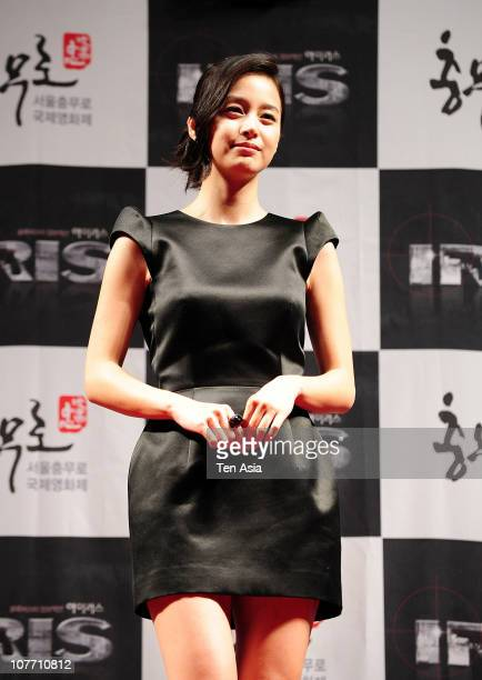 Kim Taehee poses in a press room of the Chungmuro International Film Festival on August 31 2009 in South Korea