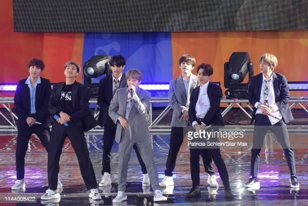 Kim Taehyung Park Jimin Jungkook Suga Kim Seokjin and JHope of BTS are seen on May 15 2019 in New York City
