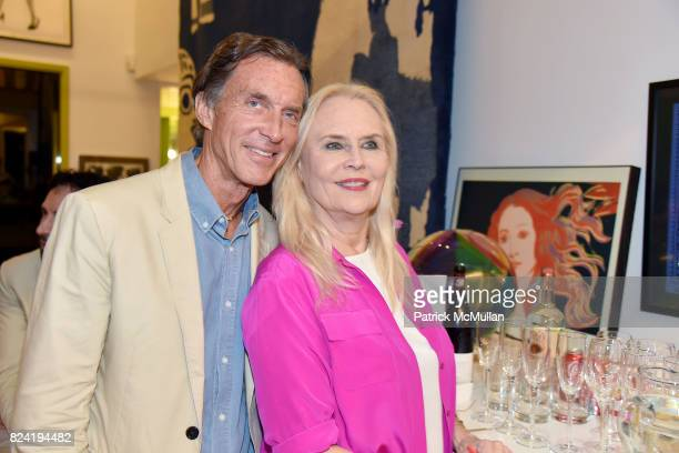 Kim Taipale and Cornelia Sharpe Bregman attend Alzheimer's Association Hosts Rita Hayworth Gala Hamptons Kickoff Event at Private Residence on July...