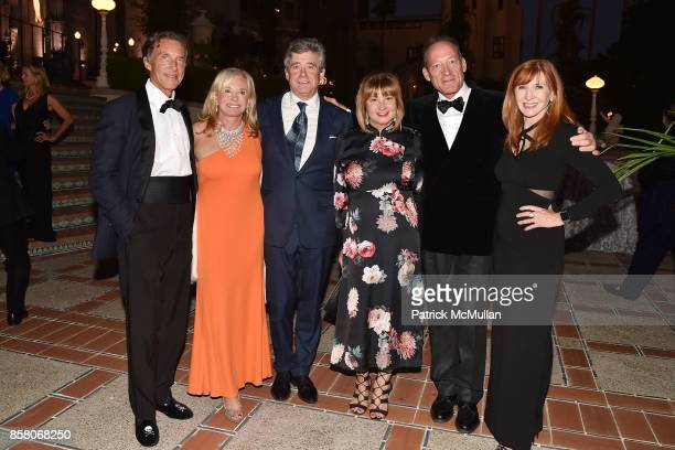 Kim Taipale Sharon Bush Jay McInerney Milly de Cabrol Tony Peck and Nicole Miller attend Hearst Castle Preservation Foundation Benefit Weekend James...