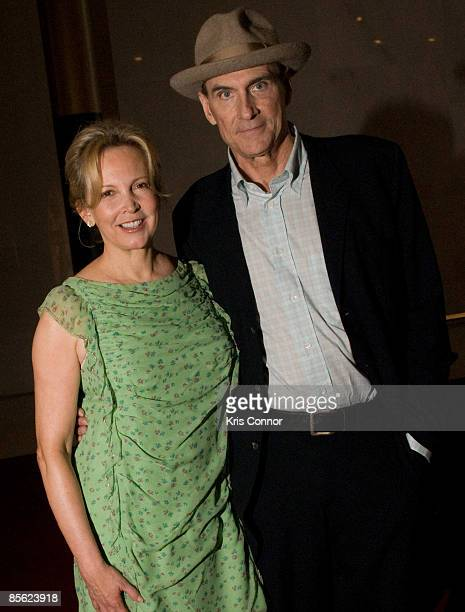 Kim Taylor and singer James Taylor walk the red carpet at Some Enchanted Evening A Musical Birthday Salute to Senator Edward Kennedy at The Kennedy...