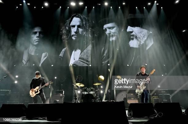 Kim Thayil and Ben Shepherd of Soundgarden perform onstage during I Am The Highway: A Tribute To Chris Cornell at The Forum on January 16, 2019 in...