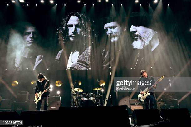 Kim Thayil and Ben Shepherd of Soundgarden perform onstage during I Am The Highway A Tribute To Chris Cornell at The Forum on January 16 2019 in...