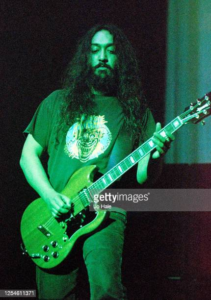 Kim Thayil of Soundgarden performs at Brixton Academy, London, 19 September, 1996. (Photo by Jo Hale/Redferns