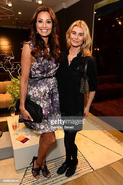 Kim Tiddy and Melanie Sykes attend a champagne reception for 'Look Good Feel Better' supporting women with cancer at the Baxter London on November 24...