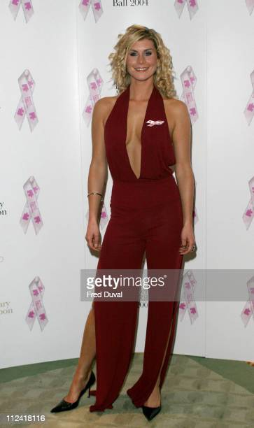 Kim Tiddy during 10th Anniversary Pink Ribbon Ball in Aid of the Breast Cancer Campaign at Dorchester Hotel in London in London United Kingdom