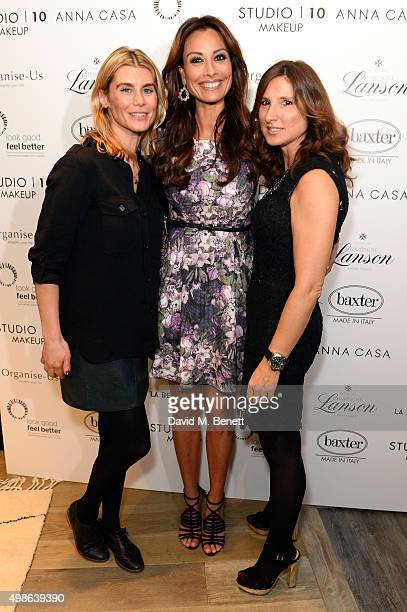 Kim Tiddy Grace Fodor and Melanie Sykes attend a champagne reception for 'Look Good Feel Better' supporting women with cancer at the Baxter London on...