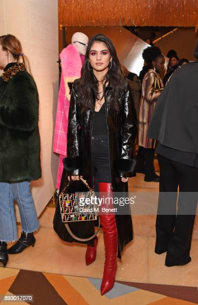 Kim Turnbull attends the FENDI Sloane Street boutique opening on December 14 2017 in London England